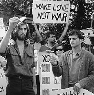 La protesta pacifista in America