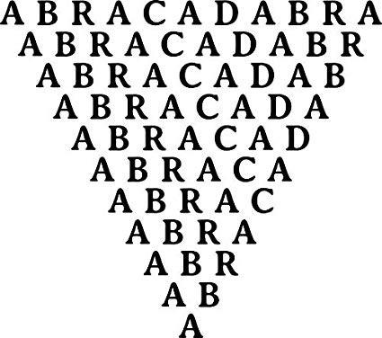 Abracadraba - Simboli esoterici