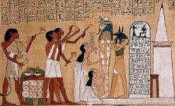 Apertura della Bocca raffigurazione papiro di Hunefer