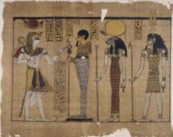 testi religiosi : Papiro Harris rappresentazione del regno di Ramses III